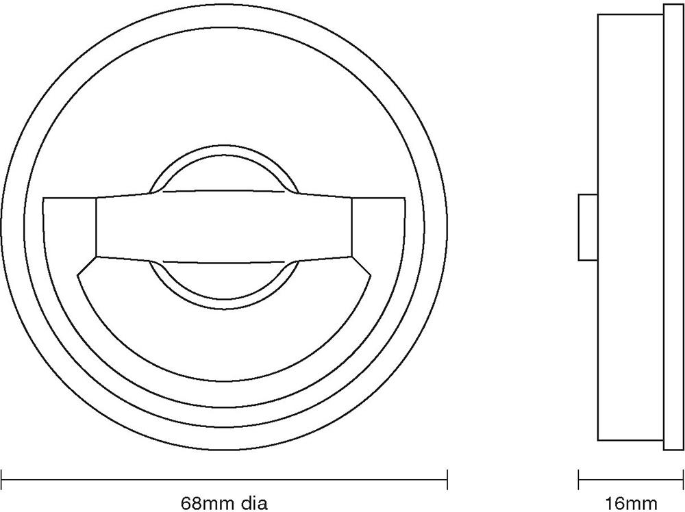 Circular Flush Latch Handle