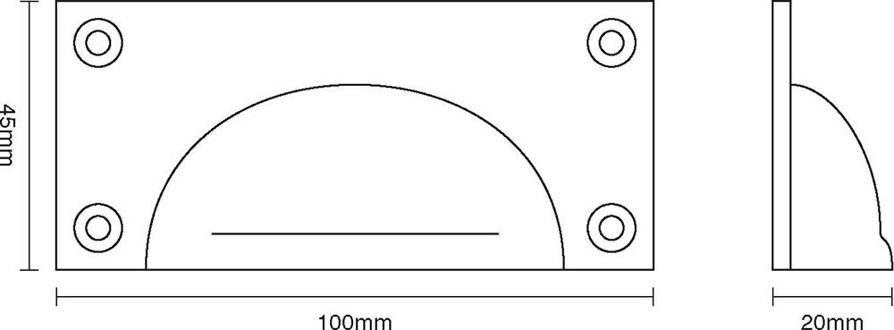 Cast Drawer Pull