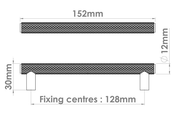 Diamond Silhouette Cabinet Handle
