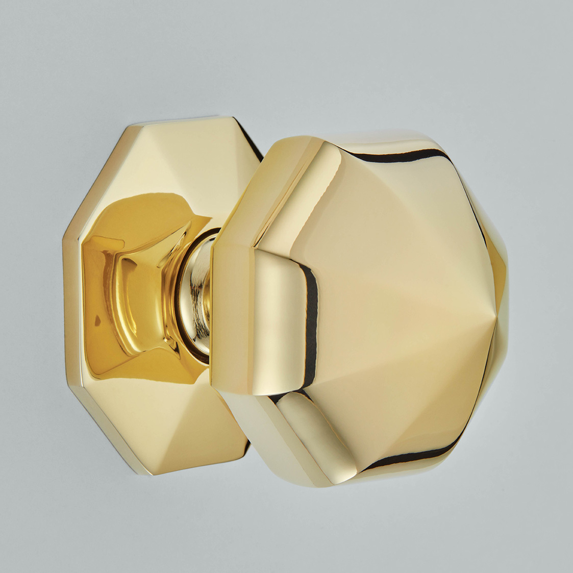 Octagonal Centre Door Knob
