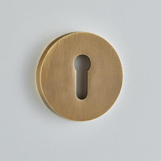 Round Escutcheon Standard Keyhole