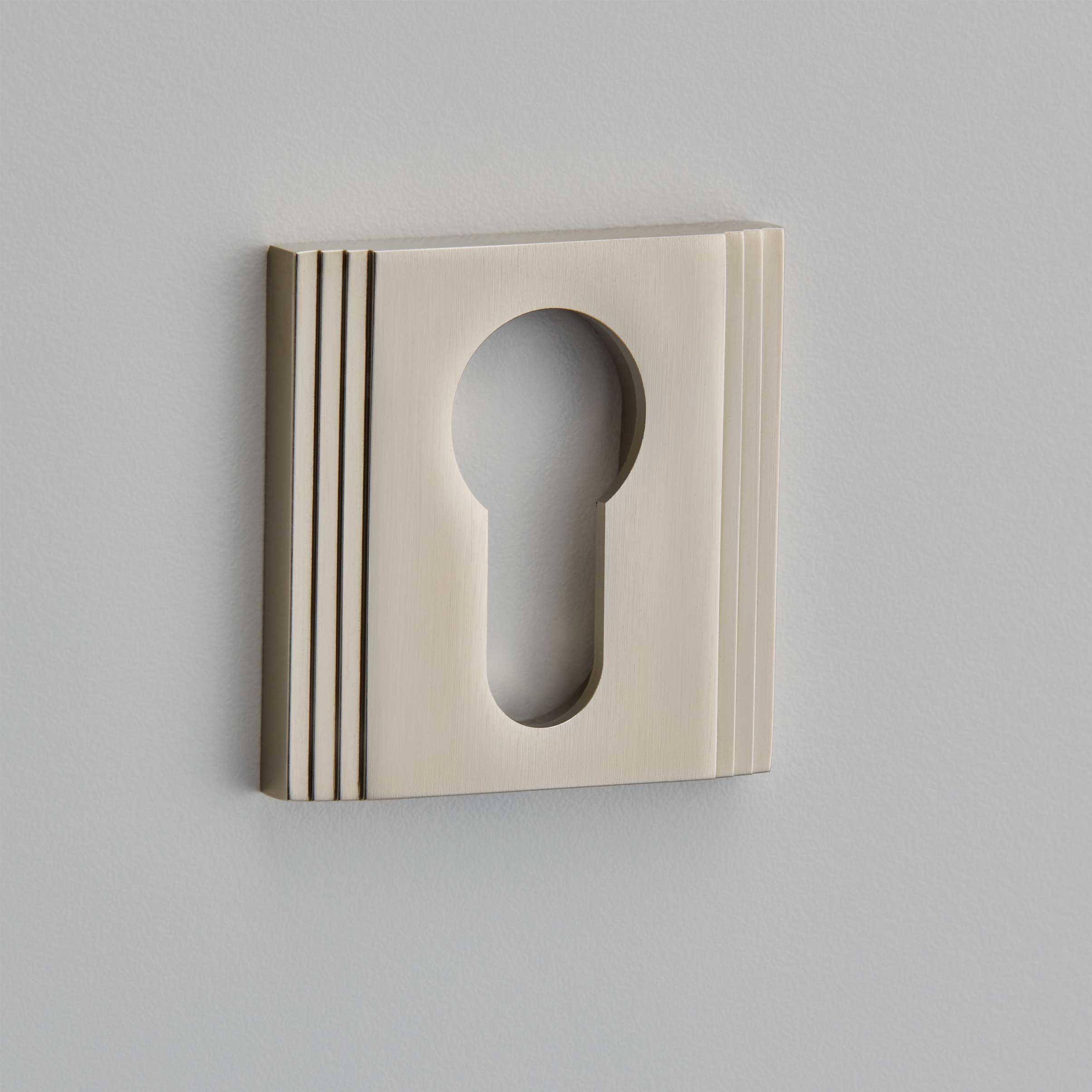 Square Straight Step Escutcheon