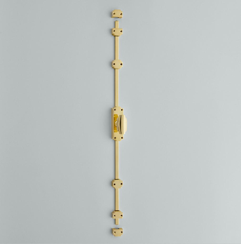 Espagnolette Bolt with Art Deco Knob