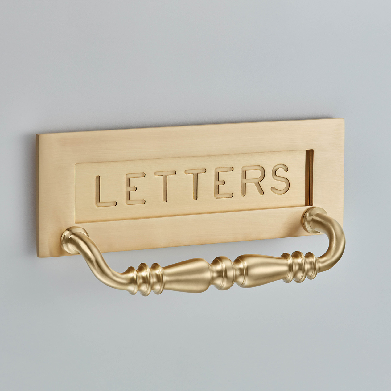 Engraved Letter Plate with handle